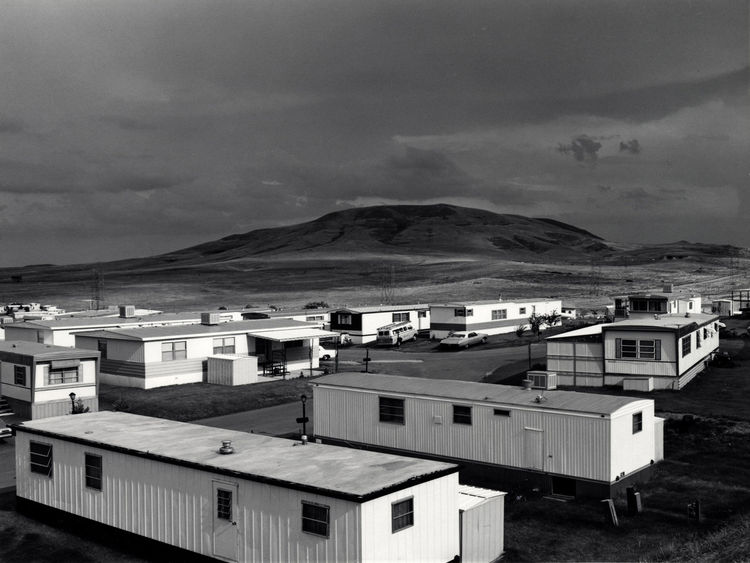 Robert Adams (American, b. 1937), <i>Mobile Homes, Jefferson County, Colorado</i>, 1973; George Eastman House collections; © Robert Adams, courtesy of Fraenkel Gallery, San Francisco, and Matthew Marks Gallery, New York