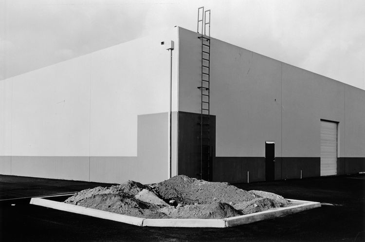 Lewis Baltz (American, b. 1945), <i>South Corner, Riccar America Company, 3184 Pullman, Costa Mesa</i>, 1974; George Eastman House collections; © Lewis Baltz