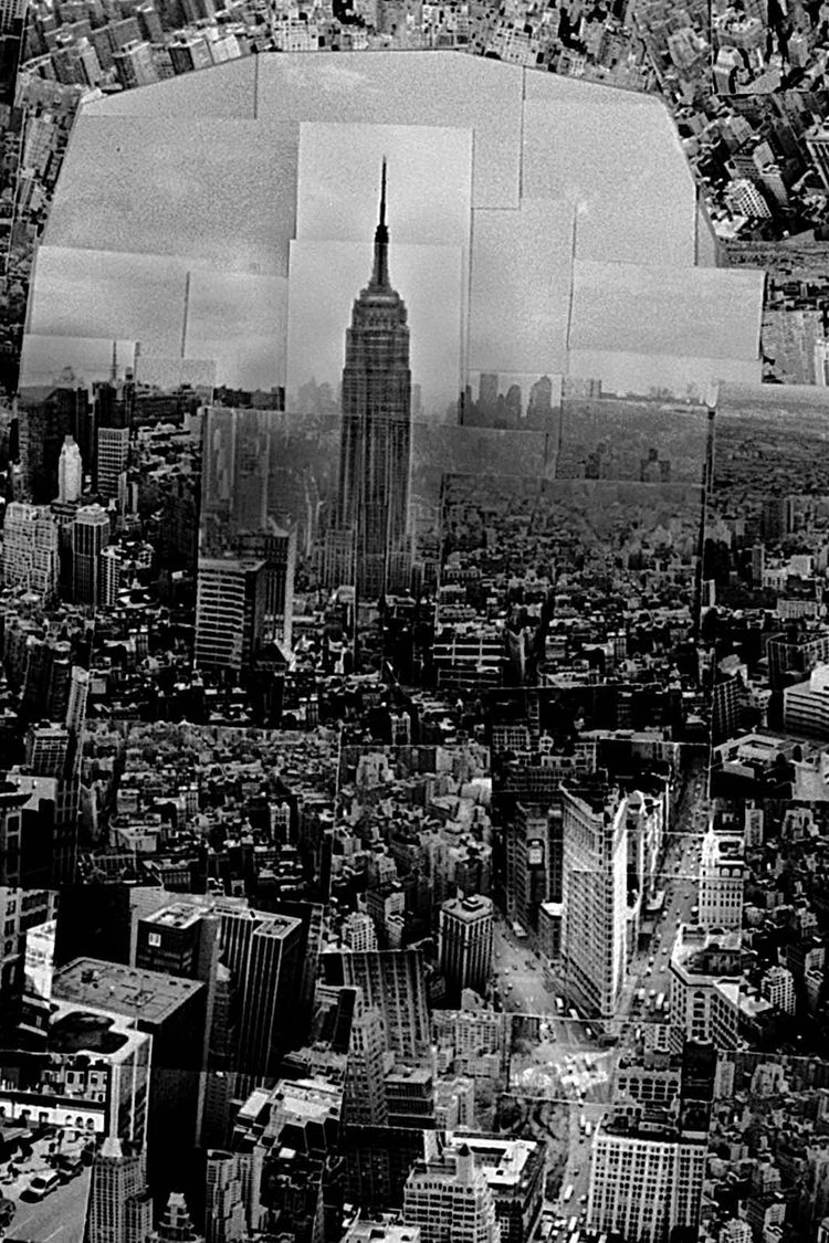 …and the Empire State Building.<br /><br /><i>Diorama Map New York</i>, 2006, Light jet print on Kodak Endura paper, 133 x 172 cm, © Sohei Nishino, Courtesy of Michael Hoppen Contemporary/ Emon Photo Gallery.