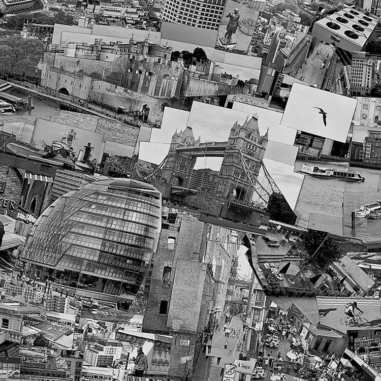 and the city's iconic Tower Bridge. After piecing all these together, the collage was then photographed as a whole to produce on final image.<br /><br /><i>Diorama Map London</i>, 2010, Light jet print on Kodak Endura paper, 230 x 128 cm, © Sohei Nishino,