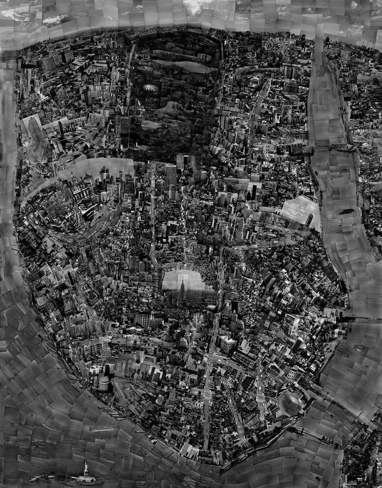 In 2006, he finished a map of New York, which ended up measuring a whopping 52 inches by 67 inches.<br /><br /><i>Diorama Map New York</i>, 2006, Light jet print on Kodak Endura paper, 133 x 172 cm, © Sohei Nishino, Courtesy of Michael Hoppen Contemporary