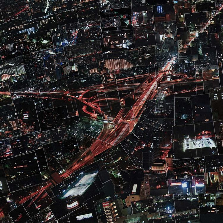 In his colored works, Nishino pieces together the cosmopolitan centers of different Japanese cities to form a surreal urban landscape.<br /><br /><i>Diorama Map Night</i>, 2009/2010, Light jet print on Kodak Endura paper, 150 x 231 cm, © Sohei Nishino, Co