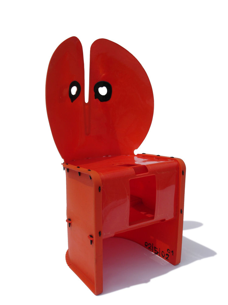 Nobody's Chair, otherwise known as the Nobody's Perfect chair, was designed in 2002 and created from poured polyurethane and plastic fasteners.