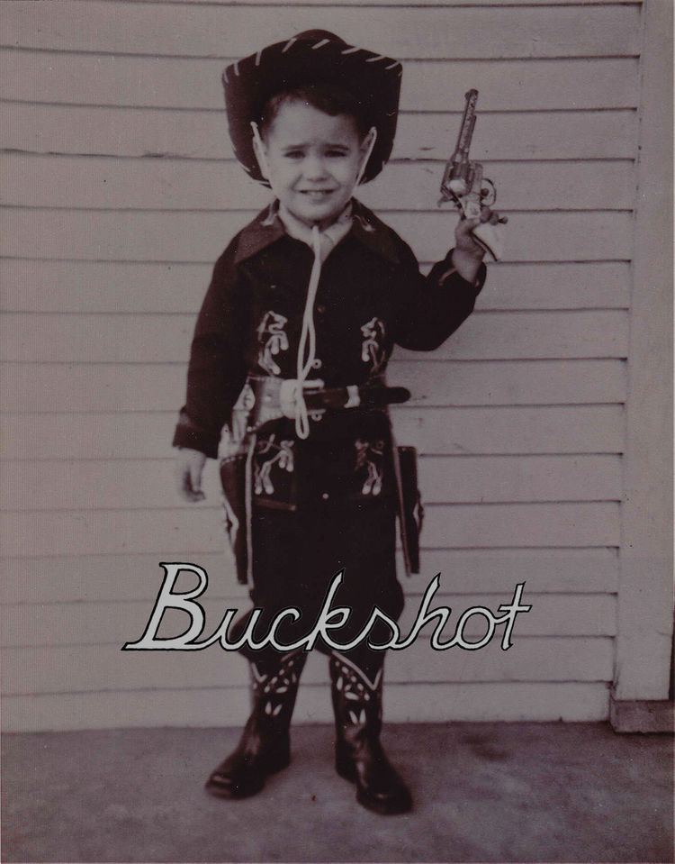 "The inspiration for the name Buckshot Sonny's, Wastler's and Gannon's online store, comes from their families. This photo of Wastler's father, nicknamed ""Buckshot,"" at age four serves as inspiration."