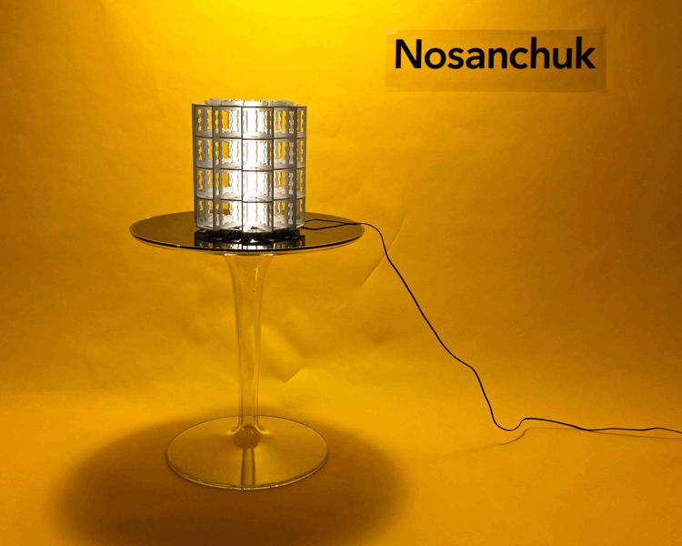 New York-based designer David Nosanchuk has created a new edition to his N1R series of custom table, floor, wall, and ceiling lamps. The lamps can be fabricated in an unlimited range of sizes (from ten inches to ten feet tall) for indoor and outdoor use i