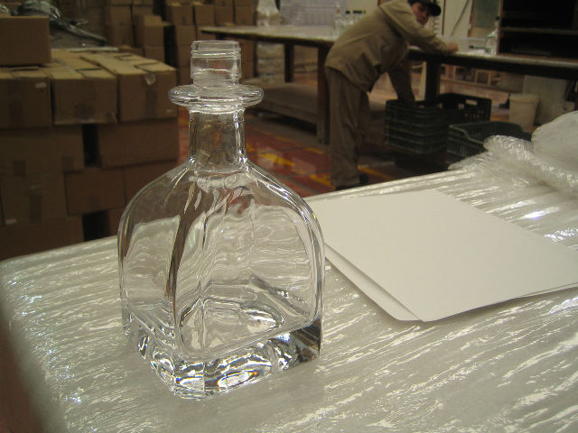 Here's another view of a single Patron bottle. I don't drink much tequila (though that's changed in the last days) but I was able to spot this bottle right away. It's funny how certain forms, which on the face of them aren't that immediately iconic, are r