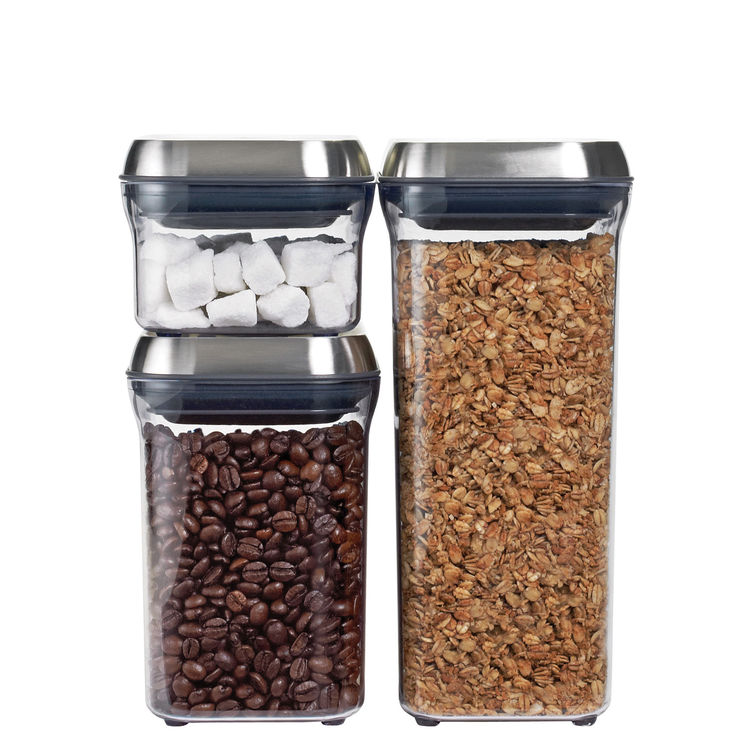"""We long loved the <a href=""""http://www.dwell.com/products/good-grips.html"""">POP containers from OXO</a>. With one push they open and with another they create an airtight seal. Come October, the containers will be available with this new stainless steel lid"""