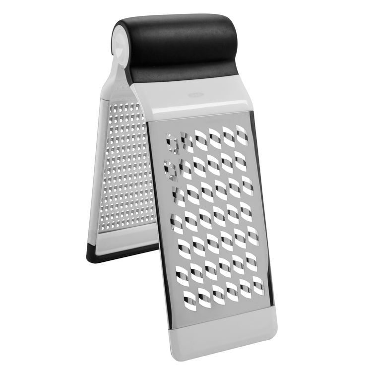 Another space-saving grater is the new Two-Fold Grater, available in November. The tool features a medium and coarse grater that can be positioned like a tent for grating over a cutting board or taken apart to be used one at a time.