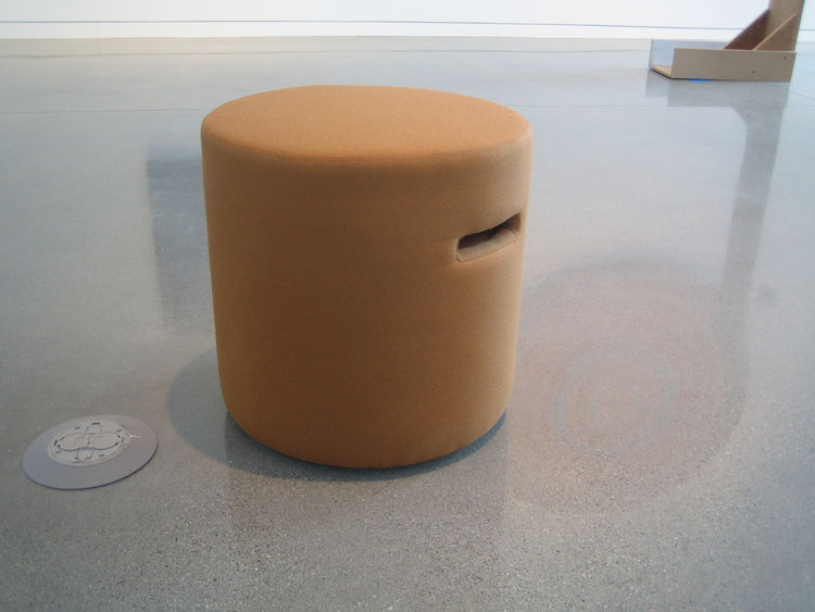 One of my favorite innovations at the Oakland Museum was in the art gallery. There they've got a handful of these small, light stools meant to be picked up and plopped in front of whatever the visitor likes. They were designed by Gordon Chun Design.
