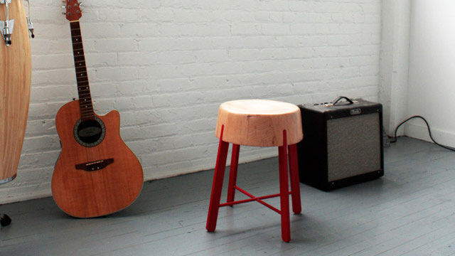 """There are two stool heights available, both featuring a different cross bar variation. This is the 20"""" version."""
