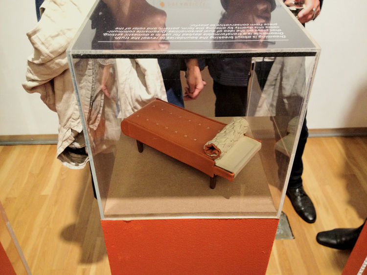 Poltrona Frau lowered the age of its average partygoer in attendance by about 20 years by engaging Parsons students to fabricate miniature models of their furniture designs, on display in vitrines in their showroom during the Saturday night SoHo walk.