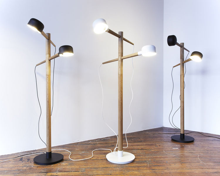 "Toronto's <a href=""http://castordesign.ca/"">Castor</a> exhibited their ""Deadstock"" series of lamps and tables at the pop-up. The duo of Kei Ng and Brian Richer found a cache of unused steel components in a lighting factory and used those pieces in the lin"