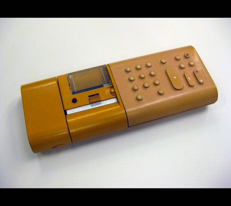 Divisumma 18 calculator designed in 1972 by Mario Bellini for Olivetti.