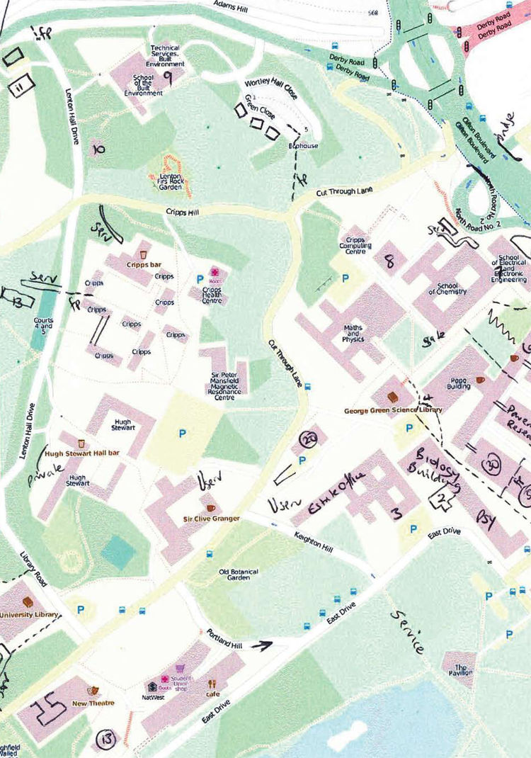 """Walking Papers (open-source mapping project for users' personal annotations) by <a href=""""http://stamen.com/>""""Stamen</a>."""