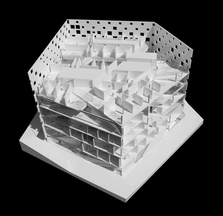 """Michael Maltzan, Architect, New building for the Jet Propulsion Laboratory, Pasadena, California, 2006-, model, detail. On view at the Canadian Center for Architecture through September 6, 2010, as part of the <i><a href=""""http://www.cca.qc.ca/en/exhibitio"""