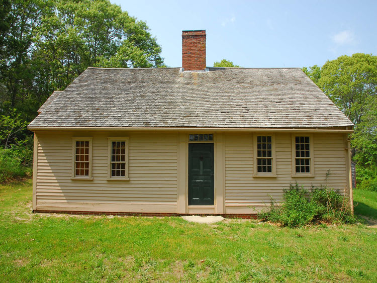 On the other end of the spectrum is this Cape Cod cottage from 1730. Atwood-Higgins House is also in Wellfleet and Hammer, who took the photo, credits it to Thomas Higgins Architect.