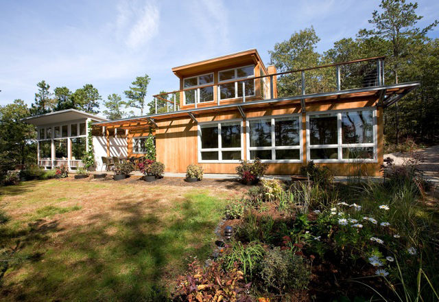 This home is a renovation and addition to a home in Truro by Henry Hebbeln. The 2008 work by Hammer Architects turned the unheated summer cottage into a functional four-season abode.<br /><br /><p><em><strong>Don't miss a word of Dwell! Download our </str