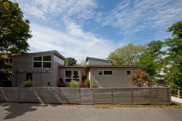 In addition to what Hammer has curated in the show Cape/Modern, I also wanted to show three projects by his firm. This is an addition to and a rebuild of a mid-century home in Provincetown, MA.