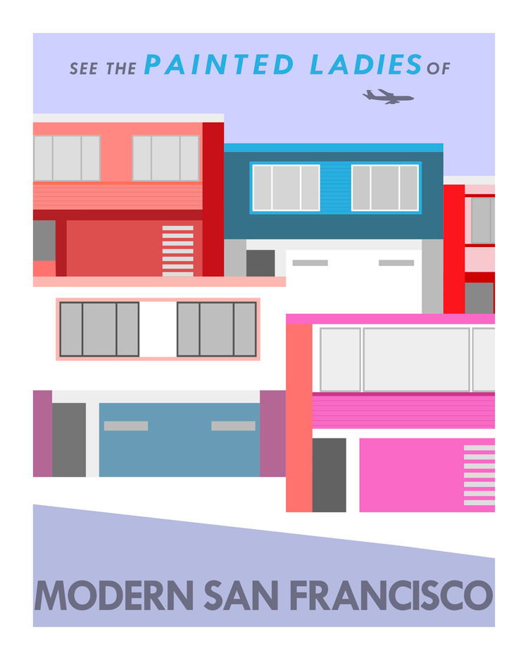 A modern version of the Painted Ladies inspired by a series of homes near USF.