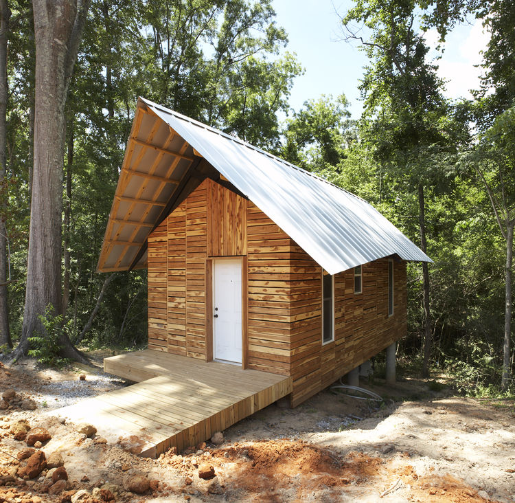 "<p>In 2008, students Drew Coshow, Robert Douge, Abigail Grubb, and Steven Ward designed the <a href=""http://www.cadc.auburn.edu/soa/rural-studio/projects_20Kphase4.htm"">Pattern Book House</a>. The name was inspired by pattern books that were popular in th"