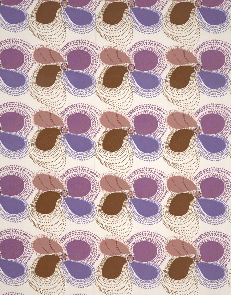 "Petal, (detail), 1971. Lucienne Day. Manufactured by Heal Fabrics. Jill A. Wiltse and H. Kirk Brown III Collection of British Textiles. On display at the Textile Museum in Washington, DC, May 15-September 12, 2010, as part of the exhibit <i><a href=""http:"