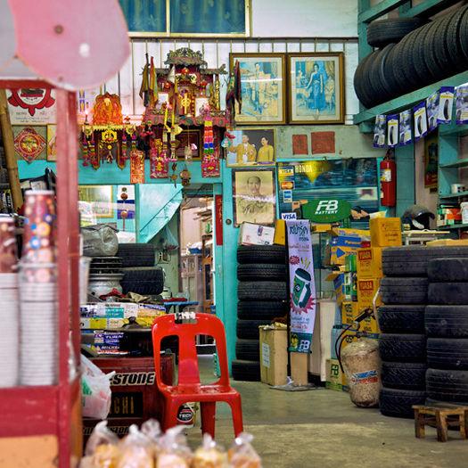 """Wheels and Coffee To-Go,"" Bangkok, Thailand. (2010)"