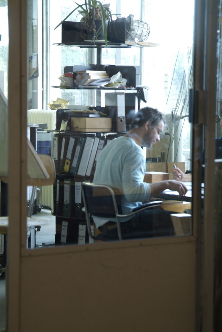 Piet Hein Eek, at the drawing board