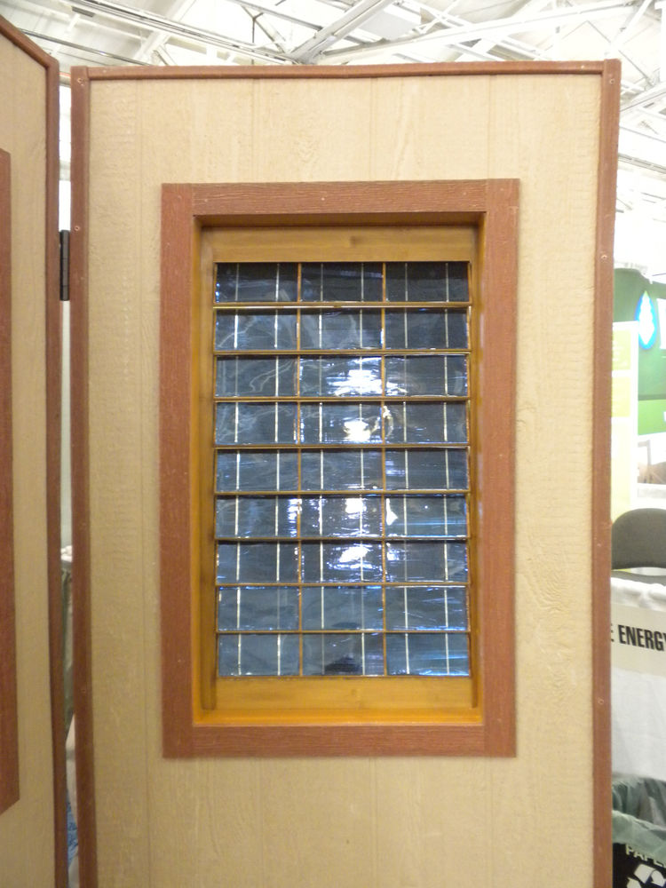 """Making its debut at West coast Green was <a href=""""http://www.plugnsaveenergyproducts.com/"""">Plug 'n Save Energy Products Solar Shutters</a>. The shutters are equipped with solar cell on the outside, with the electrical work building into the frame."""