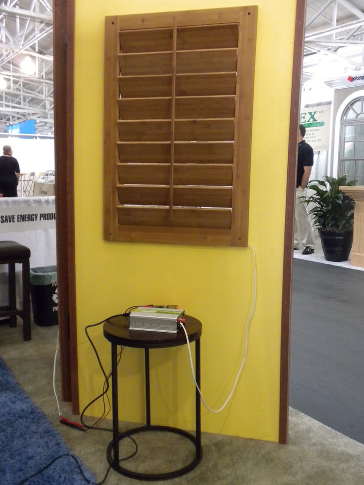The shutters are designed especially with apartment and condo dwellers--those who might not be able to add solar panels to their roofs--in mind as the system is as simple as installing the Solar Shutter and plugging the converter into the wall, which feed