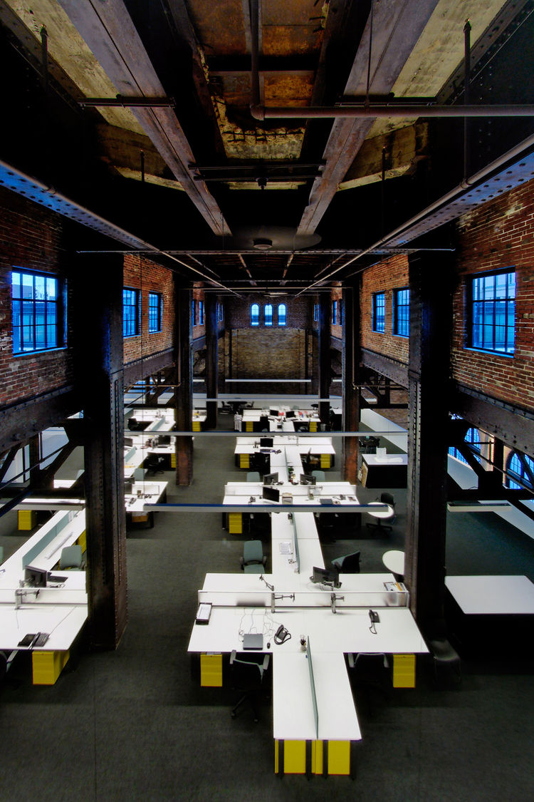 "The Power House Restoration/Renovation in St. Louis, Missouri. Designed by Cannon Design. Winner of the 2011 Institute Honor Award for Interior Architecture. Project description: ""Built in 1928 and in disuse for almost three decades, the historic structur"