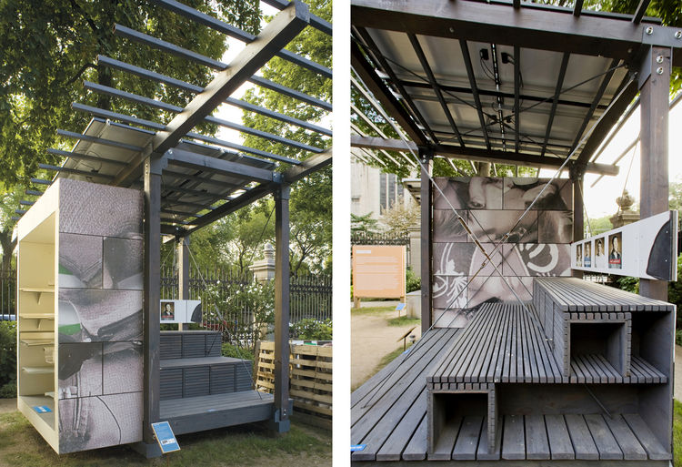 """Day Labor Station Installation at the Cooper-Hewitt in New York City, designed by <a href=""""http://www.publicarchitecture.org"""">Public Architecture</a>, winner of the <a href=""""http://www.aiasf.org/Programs/Awards_Program/New_Practices_San_Francisco.htm"""">New"""