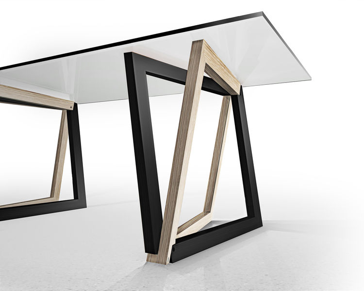 """Dror Benshetrit didn't set out to reinvent the wheel—er, joint—when considering aesthetic solutions for interlocking corners. """"I really wanted it to look super balanced and equal,"""" he says. """"It was just laying out a little experimentation in 'What if.' Wh"""