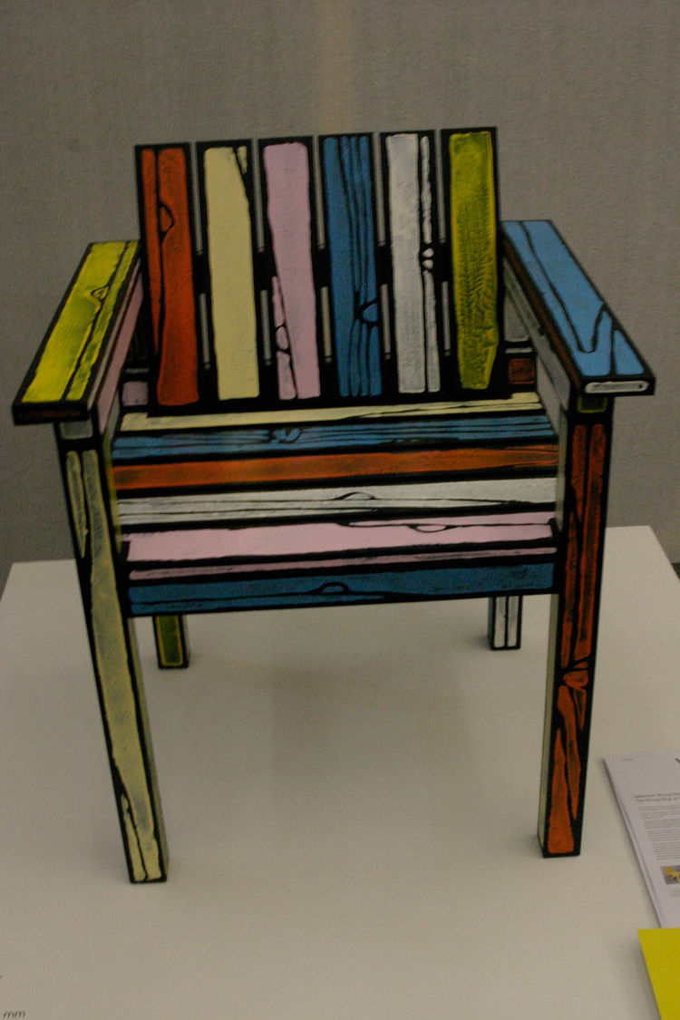 """London-based Sebastian Wrong's Studio Chair is made of acrylic paint and ash. At Qubique, the co-founder of Established & Sons will launch his new personal venture, """"The Wrong Shop,"""" with a charity auction."""