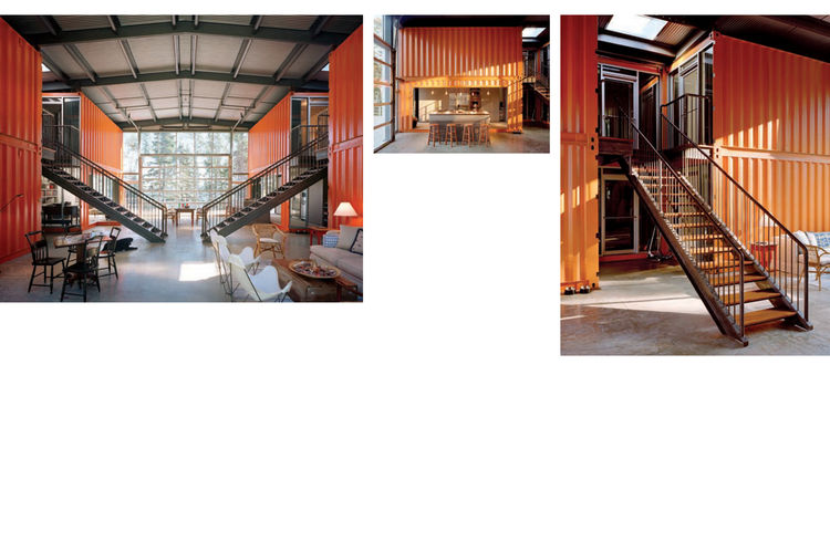 "Sections of the Adriance House by <a href=""http://www.architectureandhygiene.com"">Adam Kalkin</a>. Photo from <i>Quik Build: Adam Kalkin's ABC of Container Architecture</i>. Courtesy of Adam Kalkin."