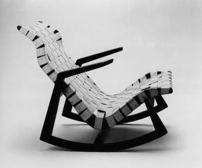 Here's an archival shot of the high-backed Rapson rocker.