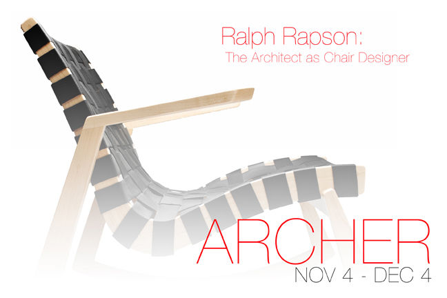 "Here's the image Archer has put together to promote the show, which runs from November 4th to December 4th. <br /><br /><p><em><strong>Don't miss a word of Dwell! Download our </strong></em><a href=""http://itunes.apple.com/us/app/dwell/id411793747?mt=8""><"