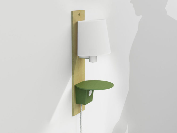 The smallest of the lot, this wall-mounted light and plug is due out in 2010.