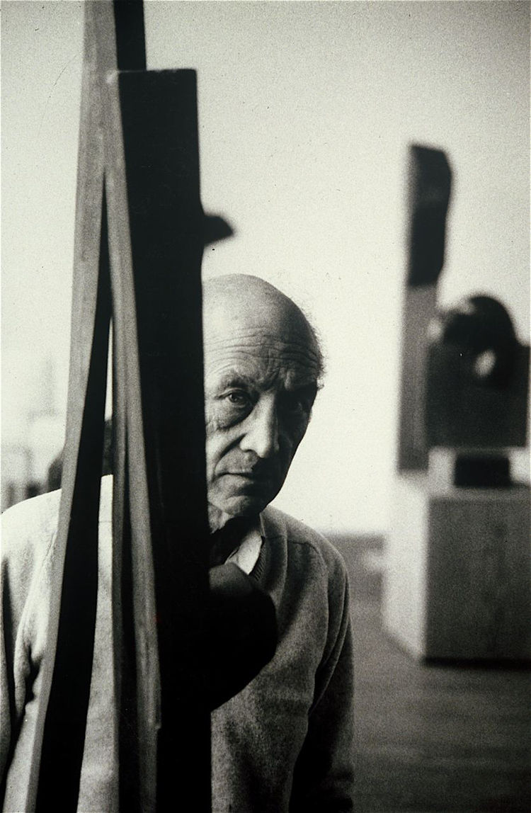 Isamu Noguchi. This 1982 photograph was my last black-and-white photograph, or it is the last that I remember, anyway. We were like water and oil in his studio, but when it came time for him to choose from thousands of images for a mini Pace Gallery retro