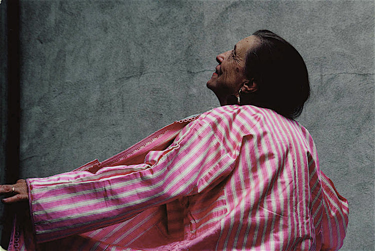 Louise Bourgeois: Wow. Certainly outlived them all! The Grand Dame of the Art World. She really wanted me to shoot her in this Caftan, one of her personal favorites. She was a tough love, smart and intuitive.