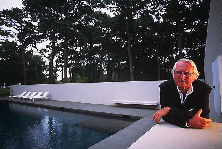 Richard Meier, another Pritzker prize winner, at his home in East Hampton.