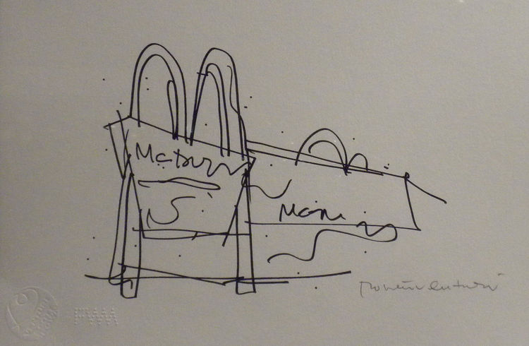 In <i>Learning from Las Vegas</i>, Venturi and Scott Brown study the moving landscapes of Las Vegas and the larger-than-life scale needed to attract the attention of an individual traveling at 35 miles per hour in a vehicle. Here, using the golden arches