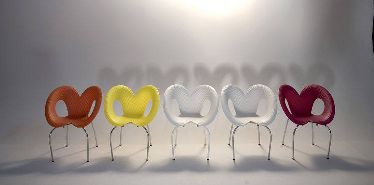 "Ripple Chair (2006)PizzaKobra (2007)<br/><br/><a href=""http://www.ronarad.com"">Ron Arad Associates</a> and the <a href=""http://www.moma.org"">Museum of Modern Art</a>"