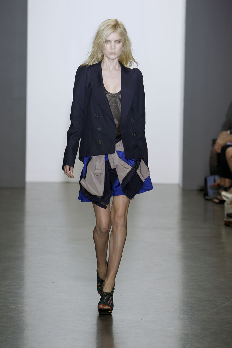 "The other finalist for the Fashion Design Award was <a href=""http://www.proenzaschouler.com/shop/"">Proenza Schouler</a>, a design house comprising Lazaro Hernandez and Jack McCollough. Shown here is a runway look from their spring/summer 2010 collection."