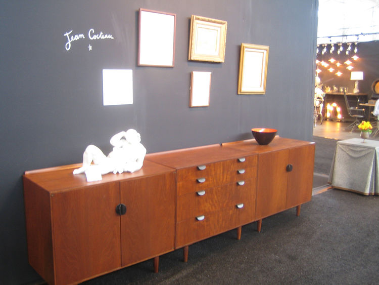 This credenza, which I initially credited to Jean Cocteau, but was actually designed by Finn Juhl, was one of my favorites. Cocteau gave it to his friend Arthur Rubin, who was a Chicago-area gallerist. Drawings and collages by Cocteau hang above it. -Aaro