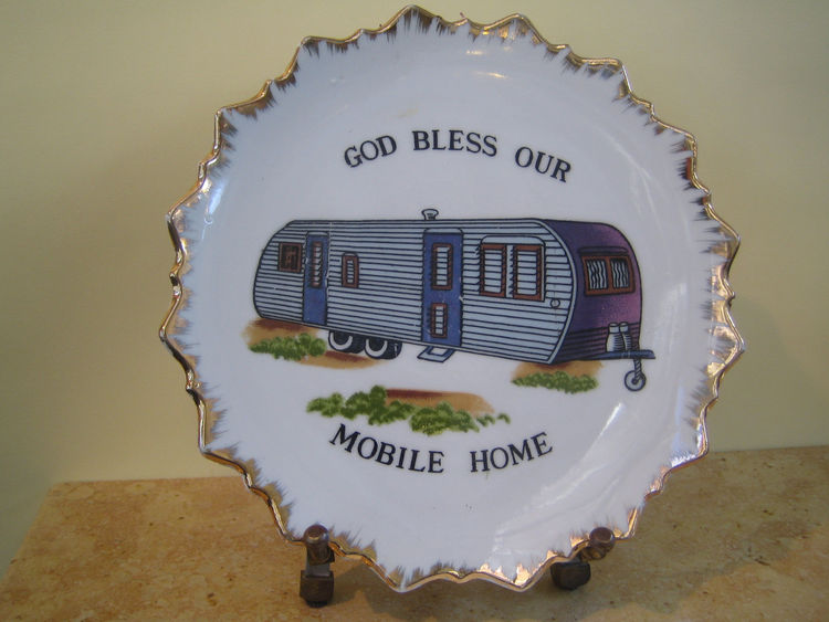 This little plate caught our eye—perhaps a little kitsch for some, but who doesn't love a mobile home? -Sarah