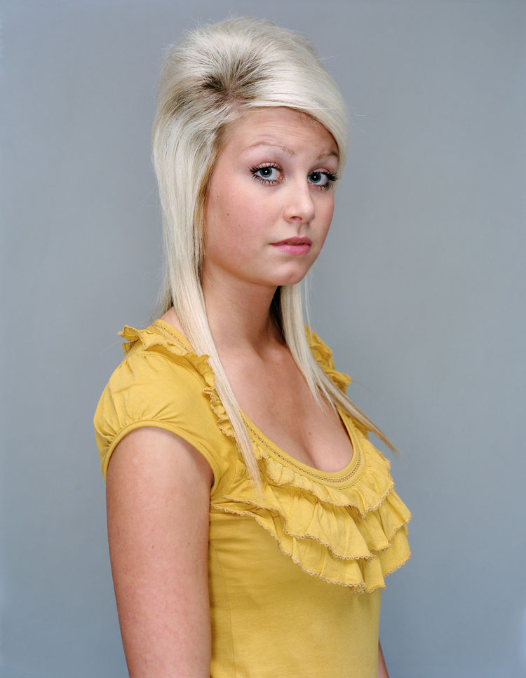 Rineke Dijkstra, Amy, The Krazyhouse, Liverpool, England, December 23, 2008, 2008; inkjet print; 48 7/8 in. x 40 1/4 in. ; Courtesy the artist and Marian Goodman Gallery, New York & Paris; © Rineke Dijkstra