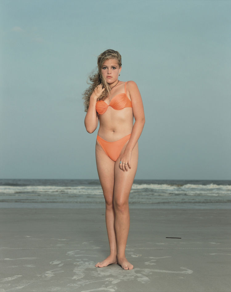 Rineke Dijkstra, Hilton Head Island, S.C., USA, June 24, 1992; 1992; chromogenic print; 66 1/8 in. x 55 11/16 in.; Courtesy the artist and Marian Goodman Gallery, New York & Paris; © Rineke Dijkstra