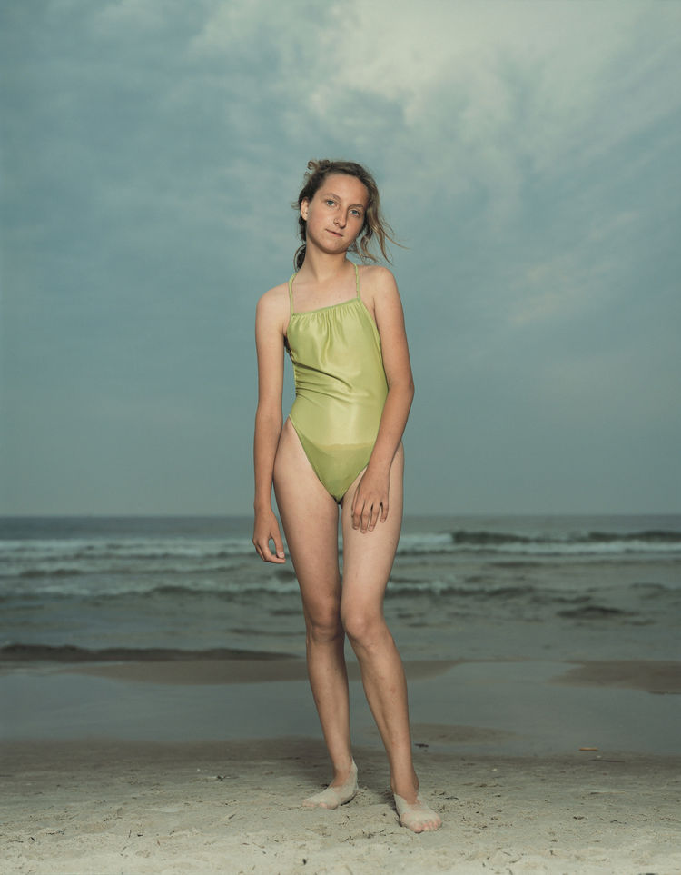 Rineke Dijkstra, Kolobrzeg, Poland, July 26, 1992, 1992; chromogenic print; 66 1/8 in. x 55 11/16 in.; Courtesy the artist and Marian Goodman Gallery, New York & Paris; © Rineke Dijkstra