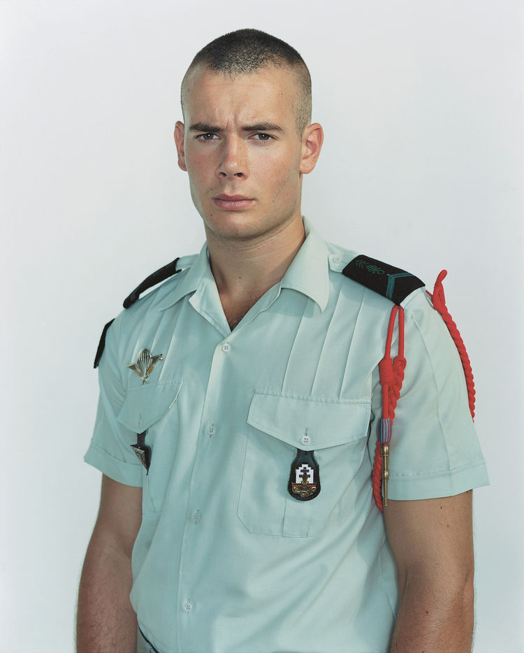Rineke Dijkstra, Olivier, The French Foreign Legion, Quartier Monclair, Djibouti, Djibouti, July 13,2003, 2003; chromogenic print; 49 5/8 in. x 42 1/8 in.; Courtesy the artist and Marian Goodman Gallery, New York & Paris; © Rineke Dijkstra