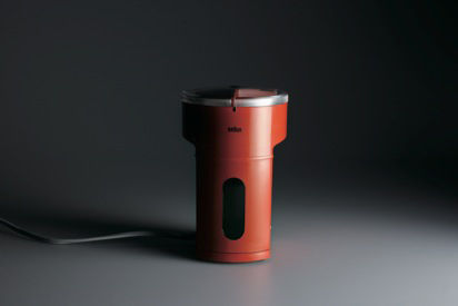 The KMM 2 coffee grinder is another of Rams' experiments in color. This one is from 1969.
